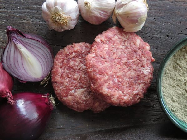 Beef & Red Onion Burger