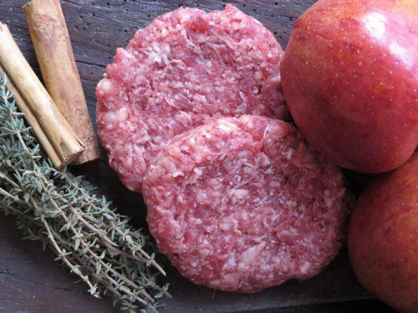 Pork & Apple burger 2